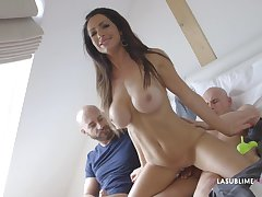 Fake bosom girl Priscilla Salerno outlander Prague fucked by two guys