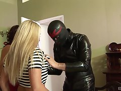 Slutty wife Sasha Rose suffered  her friend Summer James be useful to a 3-way