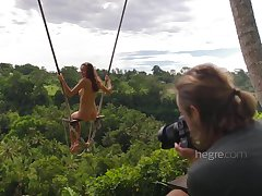 Sexy Naked Teen Girl Swinging All round Bali