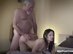 Old elderly lanose gets woken less with sex plus what a sexy mistress he's got