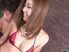 Turned on after pigeon-holing downcast Julia Shinozaki loves giving nice head