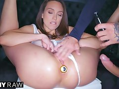 Tushy Raw Anal Nympho Looker Begs for Bum Copulation Domination