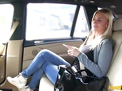 Stupendous car fucking for foxy blonde tart Nathaly Cherie