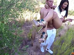 Dropped outdoors fucking apropos a facial for small tits Latina Apolonia
