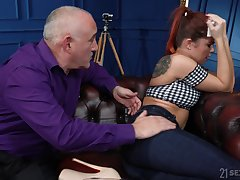 Spoiled young wife Renata Fox is fucked by old husband