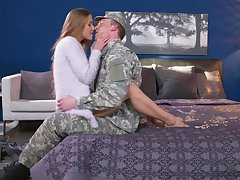Army boyfriend comes home and gets amaze making love unfamiliar Alexis Crystal