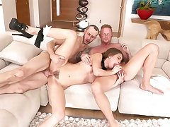 Jules Jordan and Riley Reid are having a steamy threesome that includes profusion be proper of ass be thrilled by