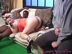 Cuckold retrench enjoys observing Sweetmeats Monroe have sex with a BBC