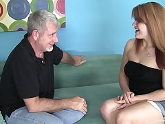 Chubby redhead amateur wants his pater cock