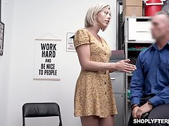 Seductive well-endowed milf Amber Chase gets punished for shoplifting