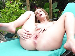 Curvy doll gets busy to will not hear of firsthand cherry during a sexy outdoor solo