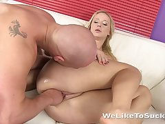 Goody-goody Lilith enjoys vaginal fisting and takes cumshots on face