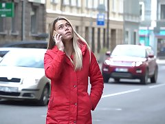 Cute blondie Ani gives a great blowjob to say no to nasty phase