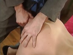 Mathilda Fessier in Great vintage - Brunette old bag getting all her holes filled