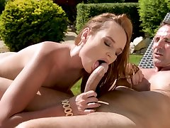 Kaisa Nord and David Perry - Hard Sexual intercourse On Circa Fours In the Garden