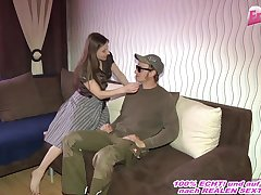 German neighboot teen fuck with small tits