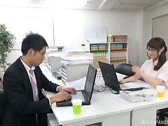 Hardcore fucking on the meeting table with a sexy Japanese secretary