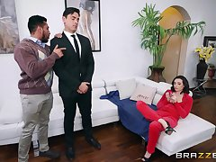 Married phone sexual connection operator Casey Calvert fucks her boxer