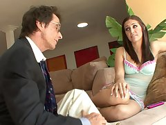 Kinky Old Men Fucks Thrilling Young Cutie Babe