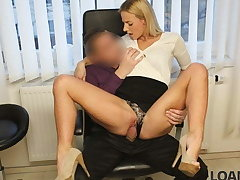 LOAN4K. Sexy blonde pays for will not hear of debts using will not hear of perfect conclave