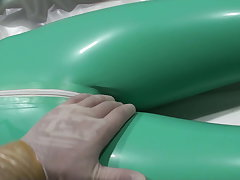 Latex Danielle relaxing in get under one's ambulance, soft version