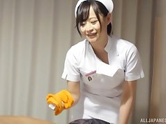 Japanese nurse drops her panties to be fucked wits a come what may