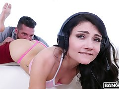 Wild fucking in the morning with gamer girlfriend Adria Rae
