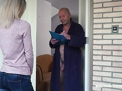 Crazy old fart gets to fuck a pretty young woman and go off at a tangent girl is so sweet