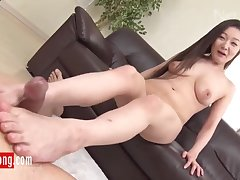 Japanese prurient gal exciting clasp
