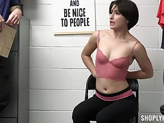 Quickie fucking in the office with safe-cracker Angeline Red