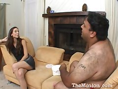 Sexy amateur ecumenical Jackie Ashe gets her cunt drilled by a fat lady's man