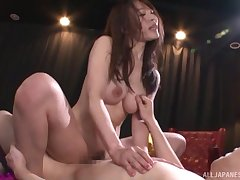 Membrane of sexy Japanese stardom Rinne Touka having nice MMF trine