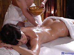 Massage leads roughly passionate fucking with hot ass Sasha Colibri