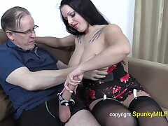Old grandpa with gigantic dig up fucks busty whore