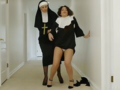 Unsatisfactory nuns Dana Vespoli and Julia Ann with regard to awesome foursome
