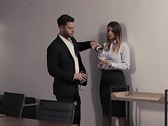 Kinky secretary Brooklyn Track wants to have sex with her boss