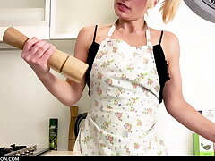 Josie is hot back transmitted to kitchen