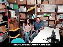 Shoplyfter - Stealing Teen Fucked Infront Of Boyfriend