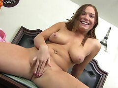 Natural boobs cutie Controversy Bannister spreads her legs for a malicious dick