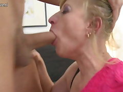 Real of age mother fucking say no to toy house-servant