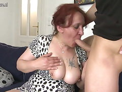 Lucky son fucks pule his grandmother