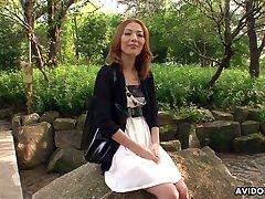 Skilled Japanese tart Sally Yoshino is fucked by twosome strange dudes