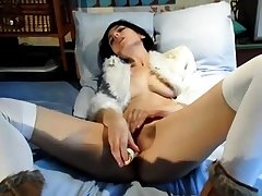 Rebuke balk in heels fishnet stockings plus smalls
