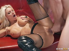 Brittany Andrews gets her pussy banged respecting all respects possible poses wide of a dude