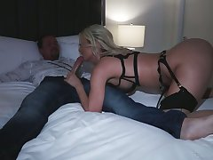 Smoking hot Polish bitch Natalia Starr takes a big cock in deep throat added to stretched anus