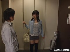 Yui Kyono gets introduced to bondage sex with the addition of this coed is cute as fuck