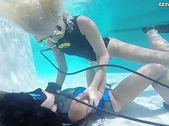 Immoral underwater scuba diving fun with a voracious homo Vodichkina