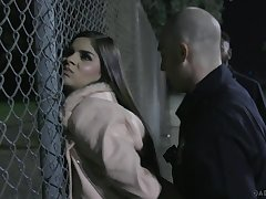 Immigrant Latina dame Katya Rodriguez is punished off out of one's mind patrol dude hard