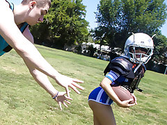 Amber Summers in Tiny Touchdown Twat - ExxxtraSmall