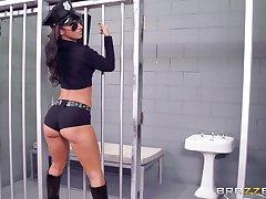 Prison guard banged four sluts : Anikka Albrite and Jada Stevens